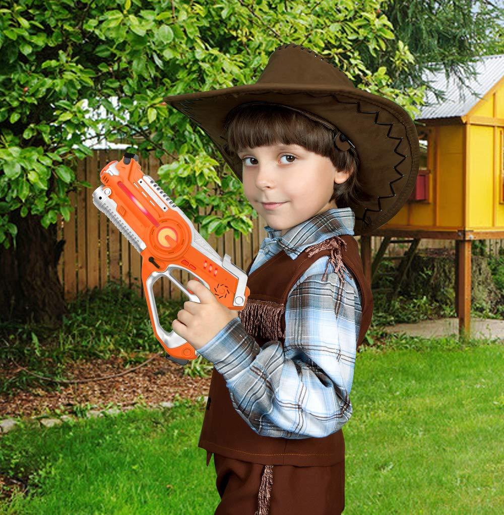 Laser Tag Guns Sets, Super Joy Infrared Laser Tag Sets with 4 Guns and 4 Vests, Laser Tag Gun Toys Indoor Outdoor Game for Boys Girls by Super Joy (Image #5)