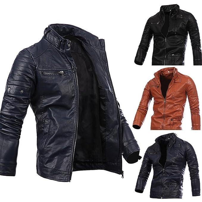 Hombres Primavera Oto?o PU Estilo Punk Leather Ropa Chaqueta Moda Ocio Locomotora Comprar Chaqueta