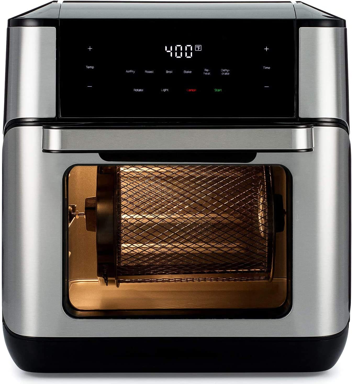 Vortex Plus Air Fryer Oven 7 in 1 with Rotisserie, 10 Qt Air Fryers Oven Cooker with Rotisserie, Dehydrator, Bake, LED Digital