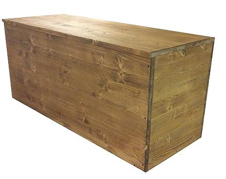 Cassapanca in legno contenitore baule in legno 100x40x45cm color ...