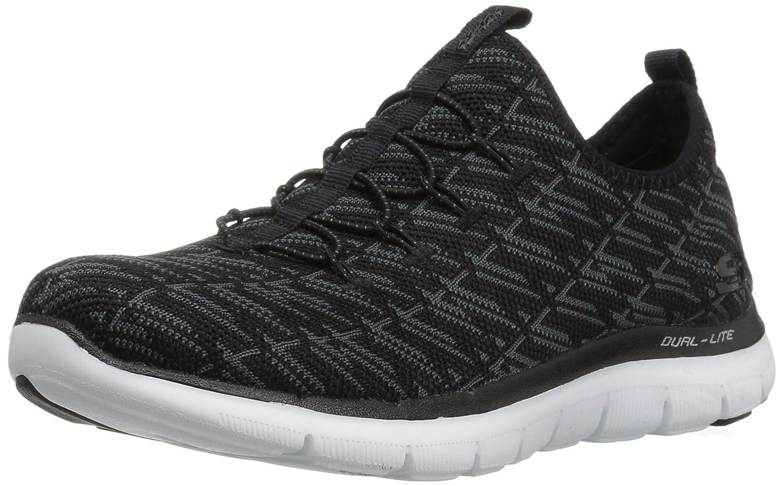 Skechers Flex Appeal 2.0-Insights, Zapatillas sin Cordones para Mujer 35 EU|Carbón Negro
