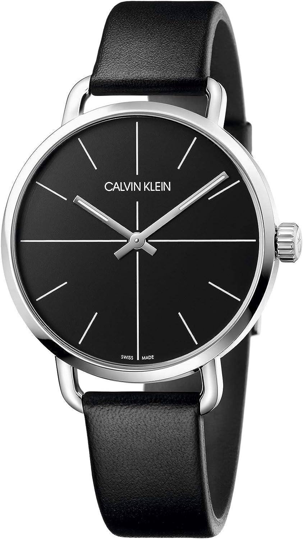 Calvin Klein Reloj Analógico-Digital para Unisex Adultos de Cuarzo con Correa en Cuero K7B211CZ