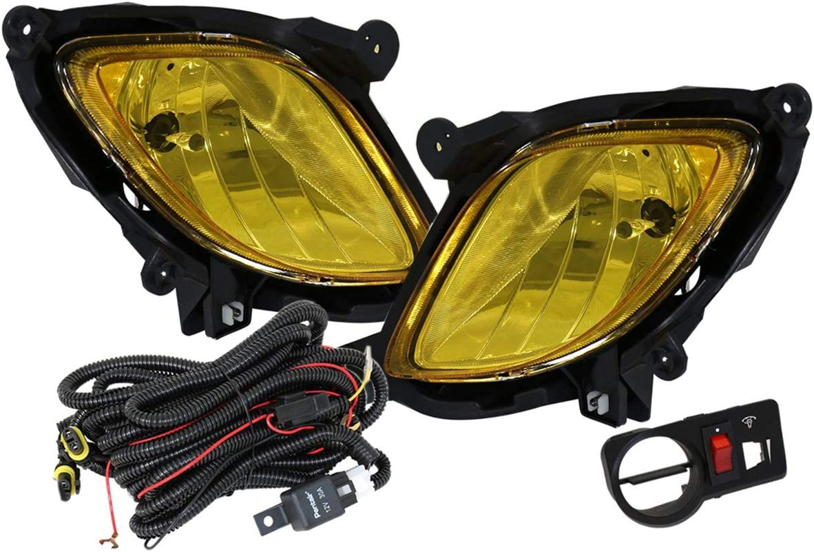 Amazon.com: Fit 2010-2012 Hyundai Genesis Coupe Front Bumper Fog Light  Amber Includes 881 Bulbs Wiring Harness and Switch: AutomotiveAmazon.com