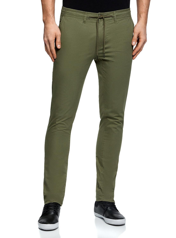 oodji Ultra Uomo Pantaloni in Cotone con Laccetti RIFICZECH s.r.o. 2L100082M