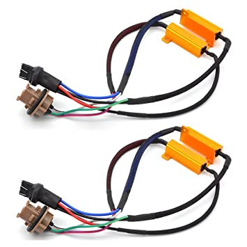 Beautiful 2x T20 7440 7443 Led Error Canceller Canbus Load Resistor Hyper Flash Decoder Rr Erneuerbare Energie Photovoltaik-zubehör
