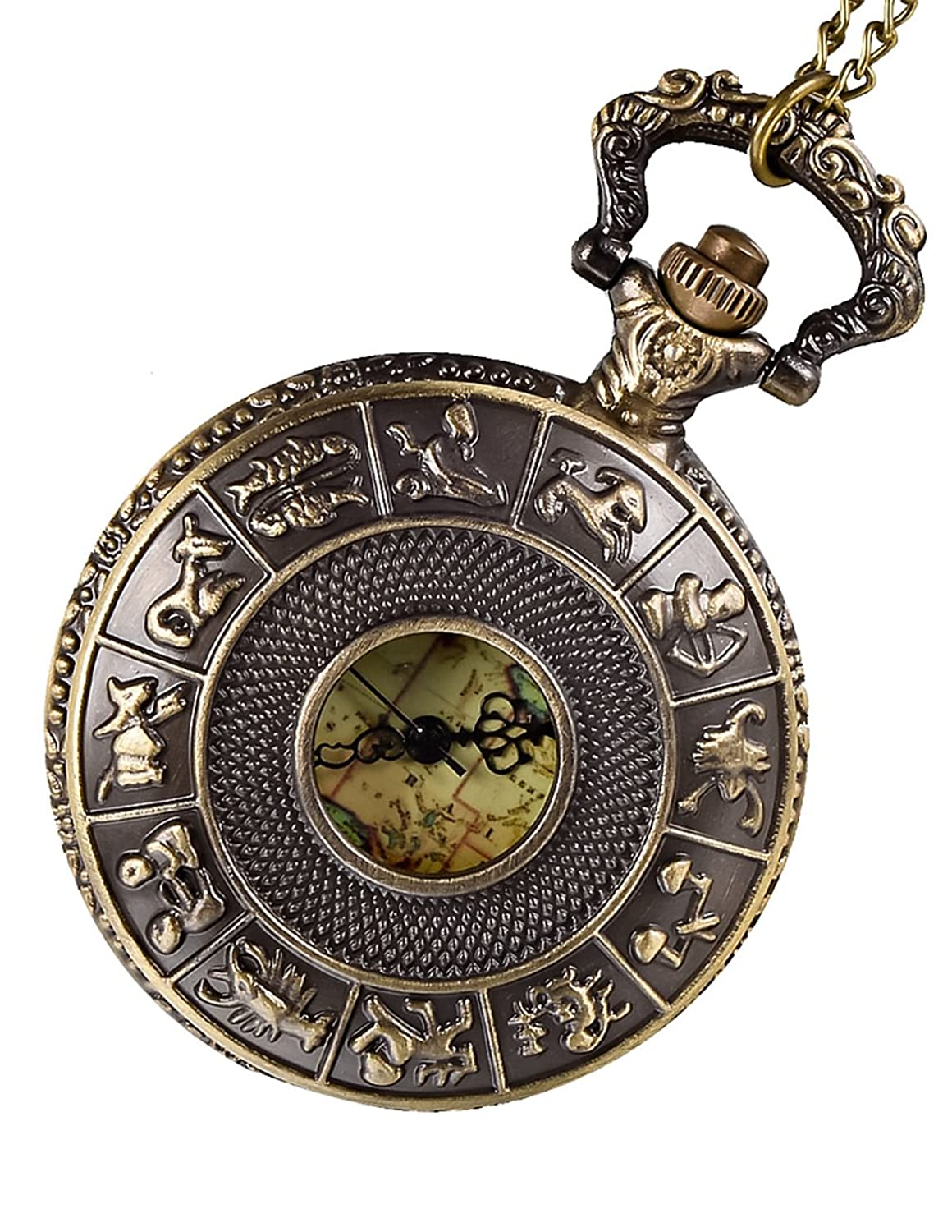 Bronze pendant watch antique map pocket watch amazon watches mozeypictures Images