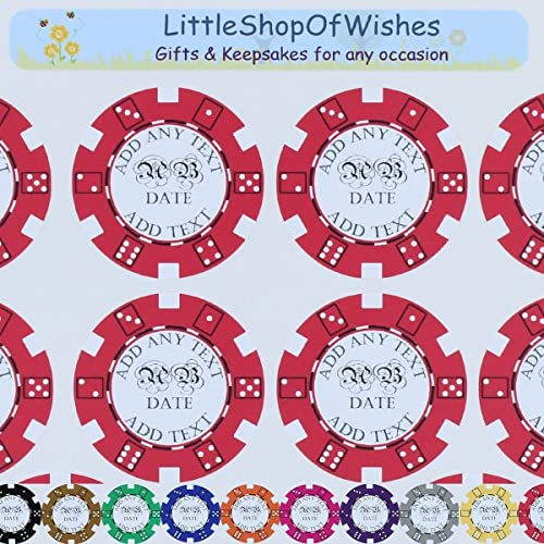 Wedding Stickers Poker Chips Vinyl Casino Theme Personalised Favours