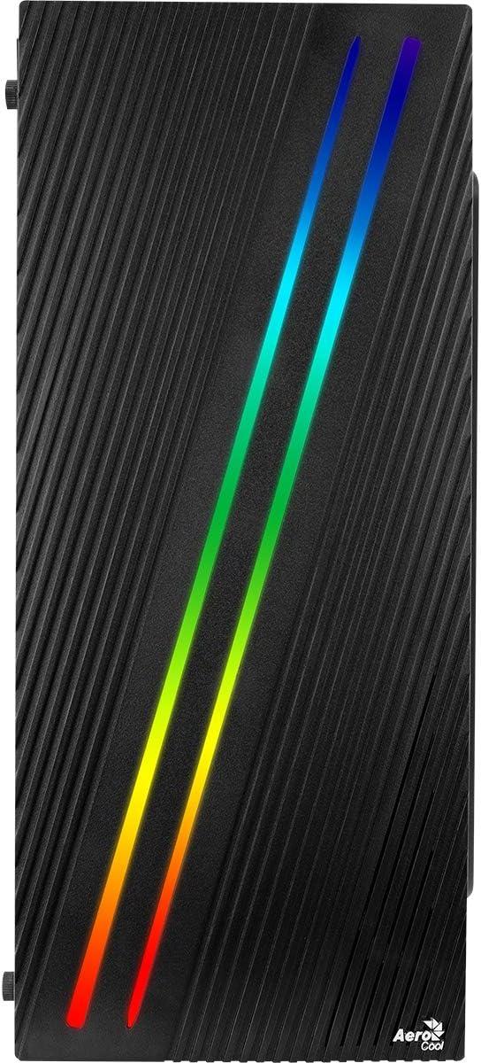 1 x 120mm Black Fan Included MATX /& Mini-ITX Aerocool Bolt Mini MATX RGB PC Gaming Case RGB LED Strip Included High Performance MATX Case 13 Lighting Modes Full Tempered Glass Side Panel Black