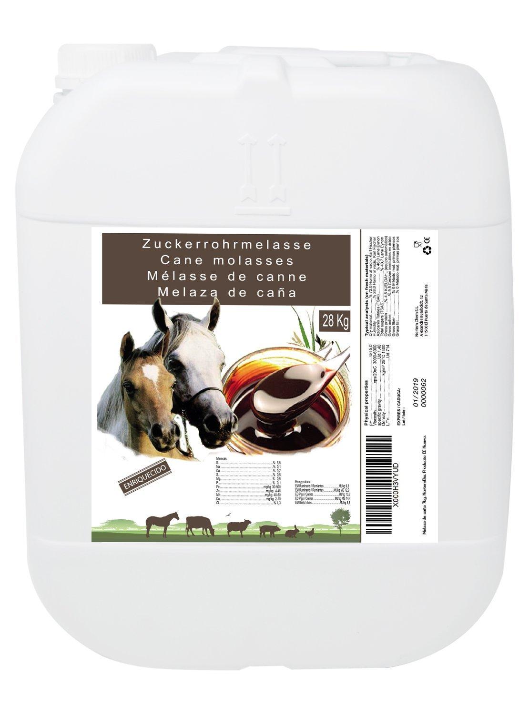 Mélasse de Canne 28 kg, Complément de Haute Valeur Énergétique, Usage Animale, Recommandé pour Les Chevaux. Produit CE. Nortem Biotechnology