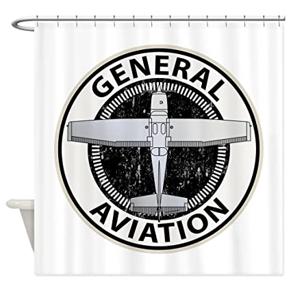 Amazon CafePress General Aviation Shower Curtain Decorative