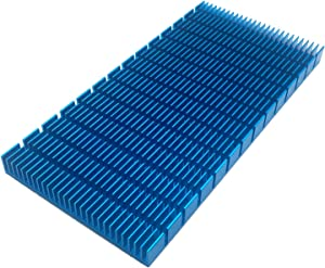 Aluminum Heat Sink Heatsink Module Cooler Fin Heat Radiator Board Cooling for Amplifier Transistor Semiconductor Devices Blue Tone 150mm (L) x 74mm (W) x10mm (H)