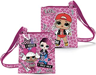 LOL SURPRISE Borsa tracolla piatta originale Rocked. 18x20cm