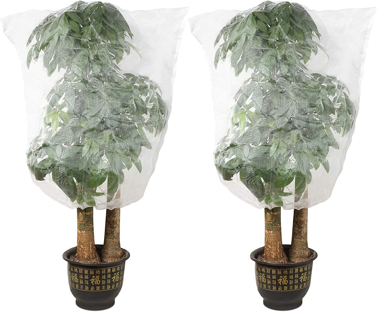 Plant Net Bags with Adjustable Drawstring Mesh Fruit Bags for Vegetables Fruit Flowers(2 Pieces, 47 x 55 Inch)