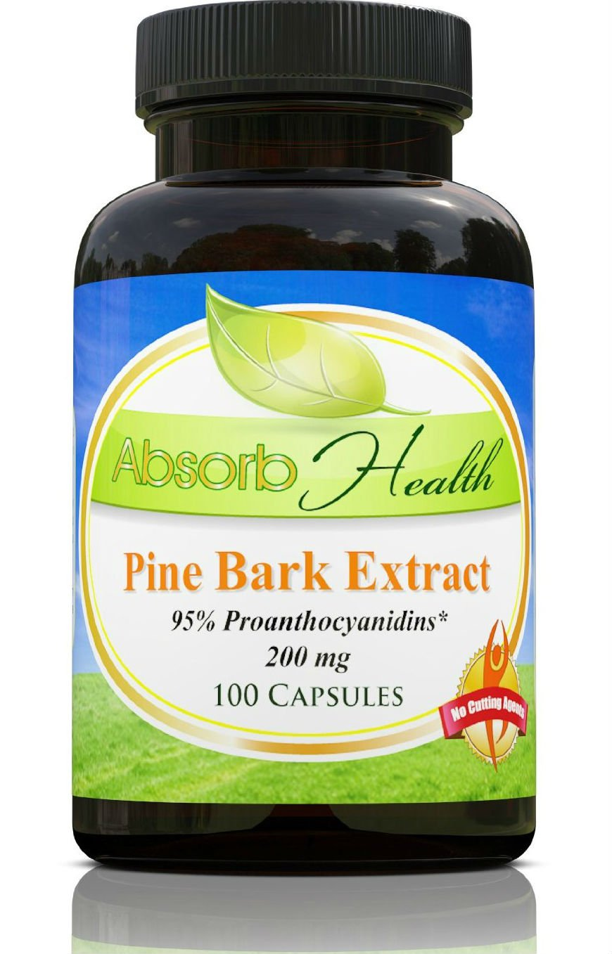 Absorb Health Pine Bark Extract 200mg Capsules, 100 Count