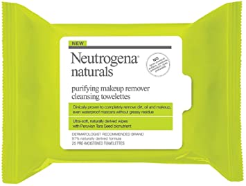 Neutrogena Naturals Purifying Makeup Remover Cleansing Wipes, 25 ct. Eco Lips - Sport Lip Balm Vanilla 30 SPF - 0.15 oz. (pack of 12)