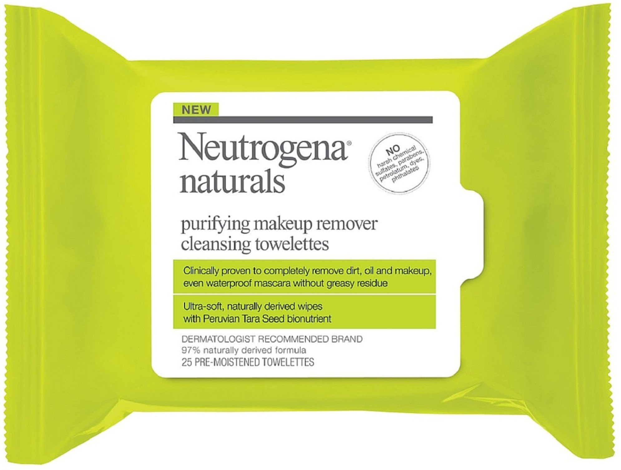 Neutrogena Naturals Purifying Makeup Remover Cleansing Towelettes 25 ea (Pack of 6)