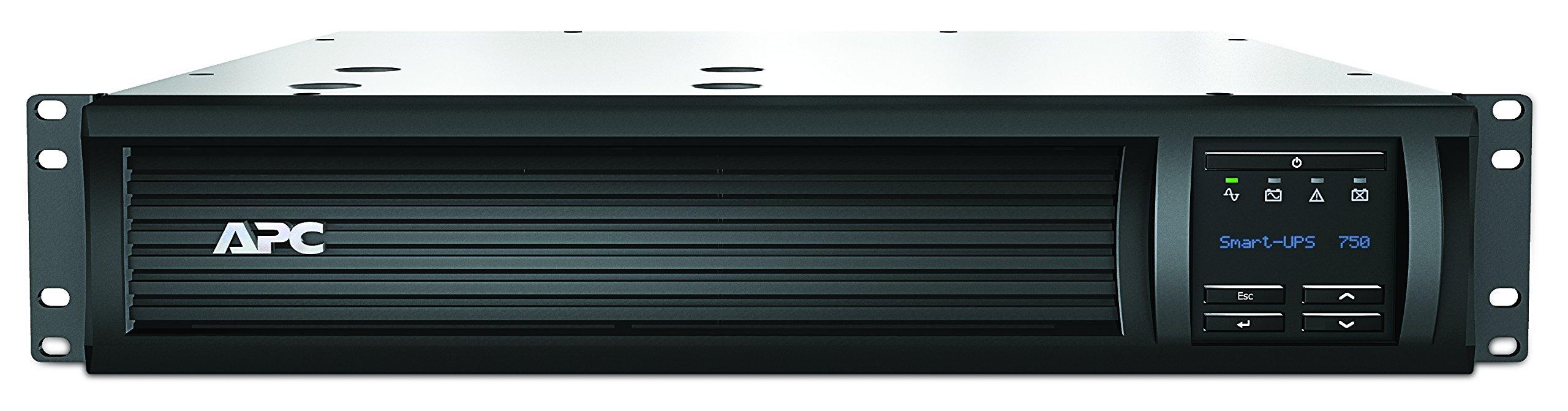APC 750VA Smart-UPS Rackmount Sine Wave UPS (SMT750RM2U) by APC
