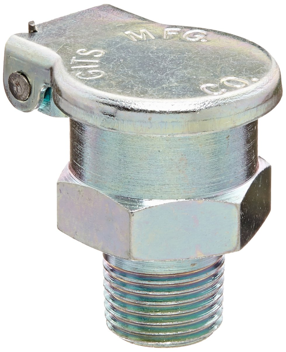 Gits 01450 Oil Hole Covers and Cup, Style HB Hexagon Body Gravity Feed Oil Cup, 1/8''- 27 Male NPT , 15/16 Overall Height, 1-7/32 Assembly Clearance