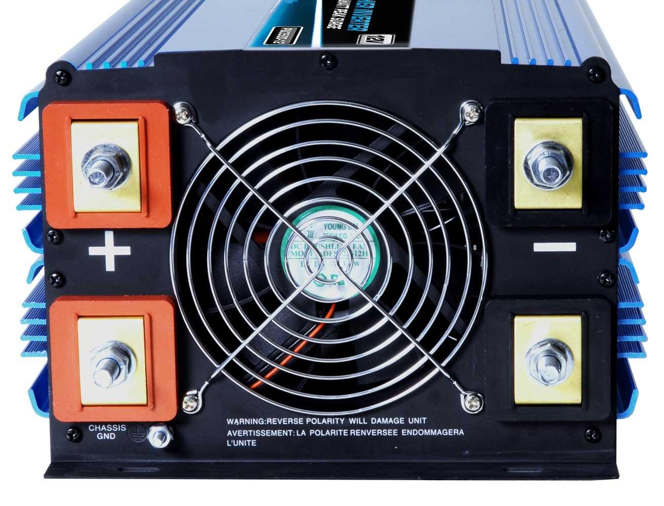 Power Bright PW6000-12 Power Inverter 6000 Watt 12 Volt DC To 110 Volt AC by PowerBright (Image #2)