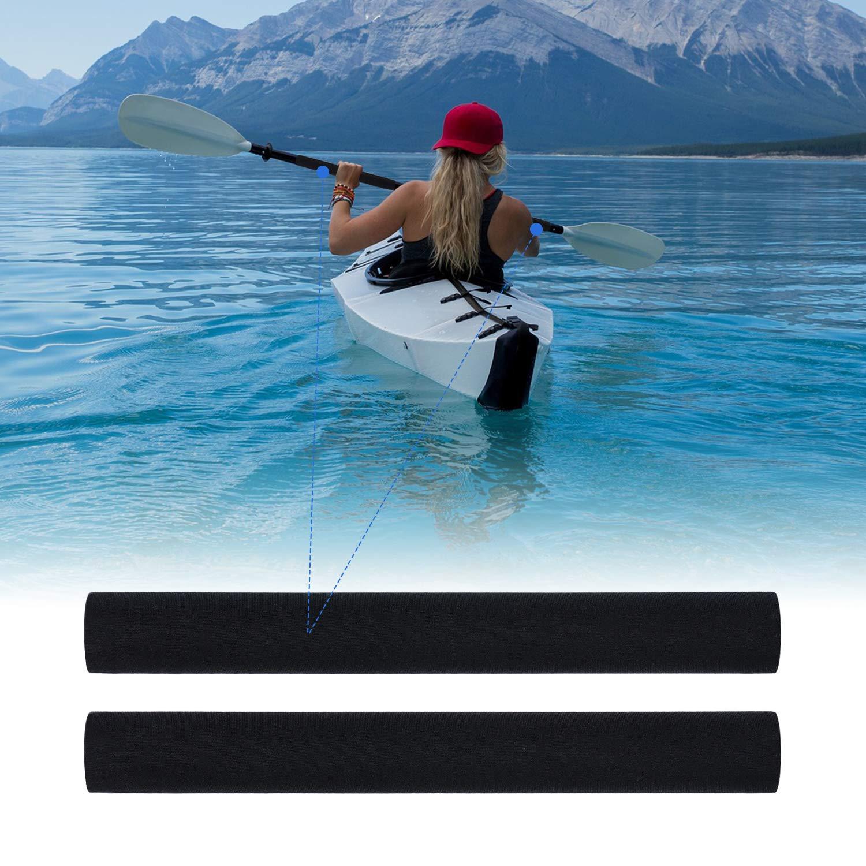 Hot Slim Kayak Paddle Grips Neoprene Canoe Shaft Coating Efficient Paddling 11.42 Inch Pack of 2