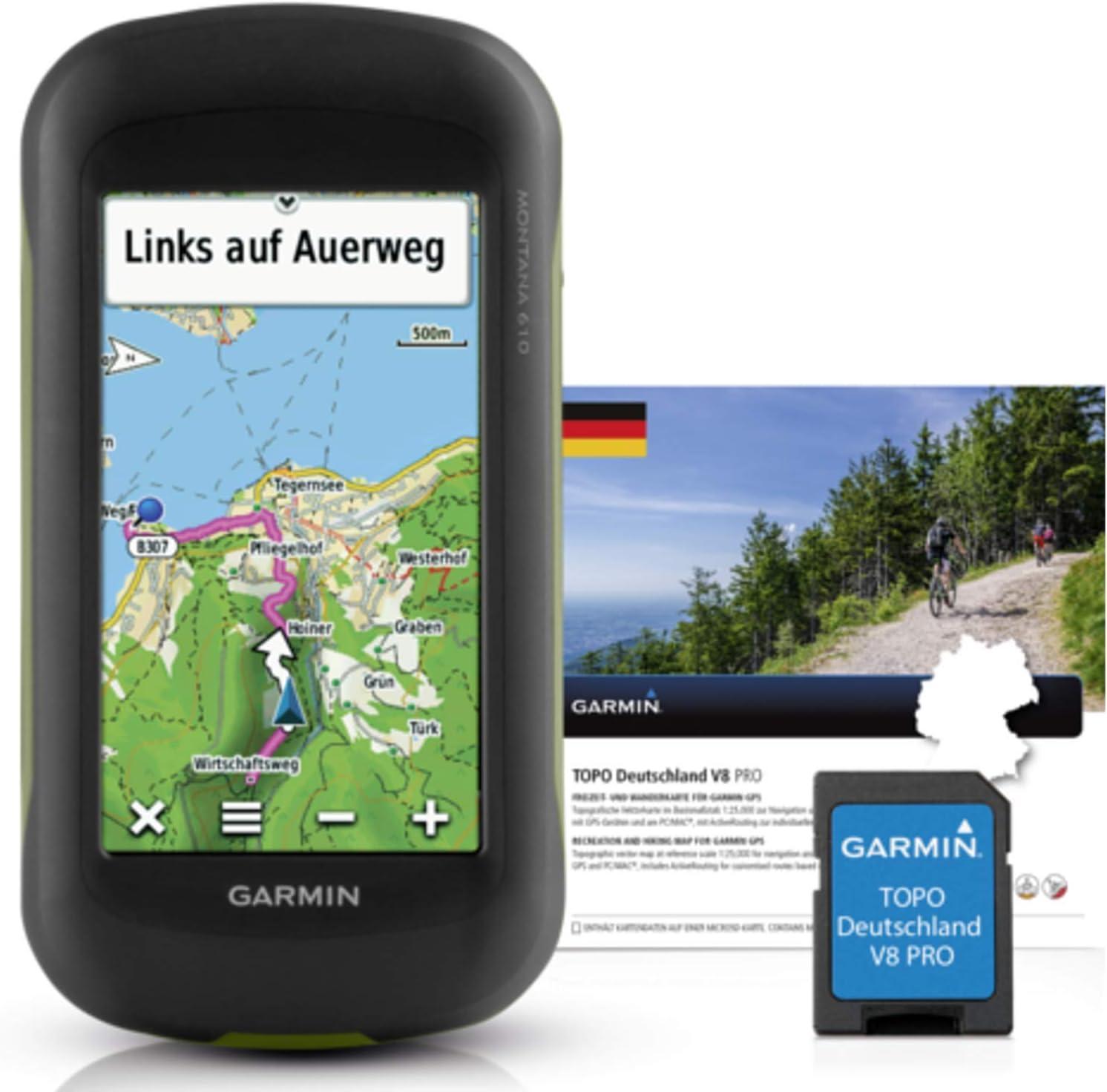 Garmin Uni Montana 610 + Topo Alemania V8 Pro Outdoor Dispositivo de navegación, Negro, One Size: Amazon.es: Deportes y aire libre