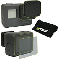 Wasabi Power Screen Protector (x2) and Lens Cap (x2) for GoPro HERO7, HERO6, HERO5 Black