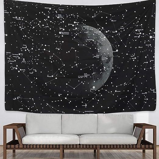 Tapiz para colgar en la pared con diseño de la luna y ...
