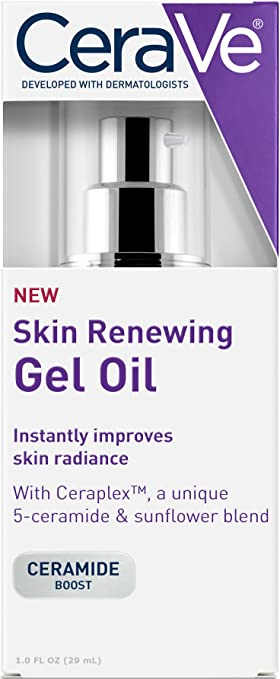 CeraVe Gel Oil | 1 Ounce | Anti Aging Gel Serum for Face to Boost Hydration  | Fragrance Free & Noncomedogenic
