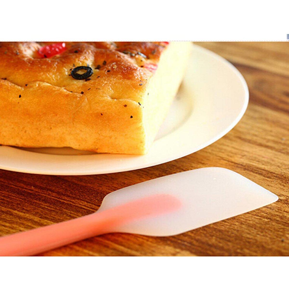 BESTONZON 6 piezas de esp á tula de silicona resistente al calor de mango  largo 6fc9ba18ef3