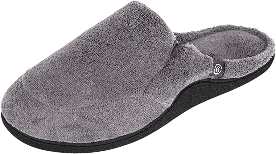 NEW Isotoner Men/'s Microterry Clog Slippers Multiple Colors Sizes