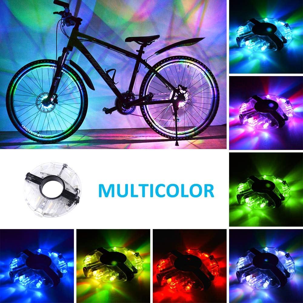 WAYNEWON Rechargeable Bike Wheel Hub Lights