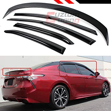 For 2018 2019 Toyota Camry ABS Black Rear Roof Window Visor Spoiler 3D JDM USA