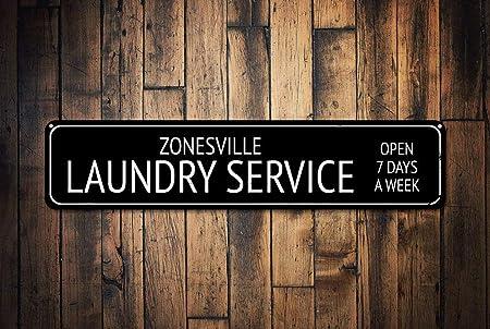 Cartel Personalizado de Servicio de lavandería con Texto en ...