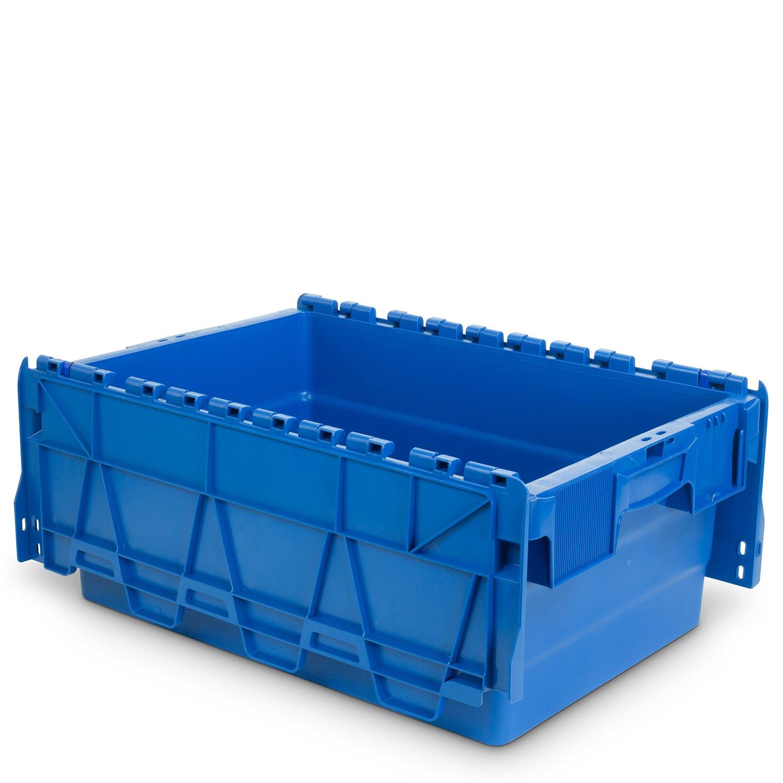 Blau Hans Schourup 22600459 Mehrwegbeh/älter mit Klappdeckel 600 mm x 400 mm x 250 mm