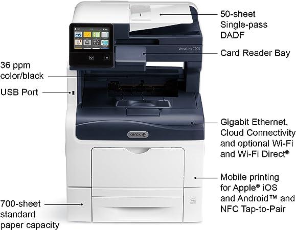 Amazon.com: Xerox VersaLink C405/DN Color MultiFunction ...