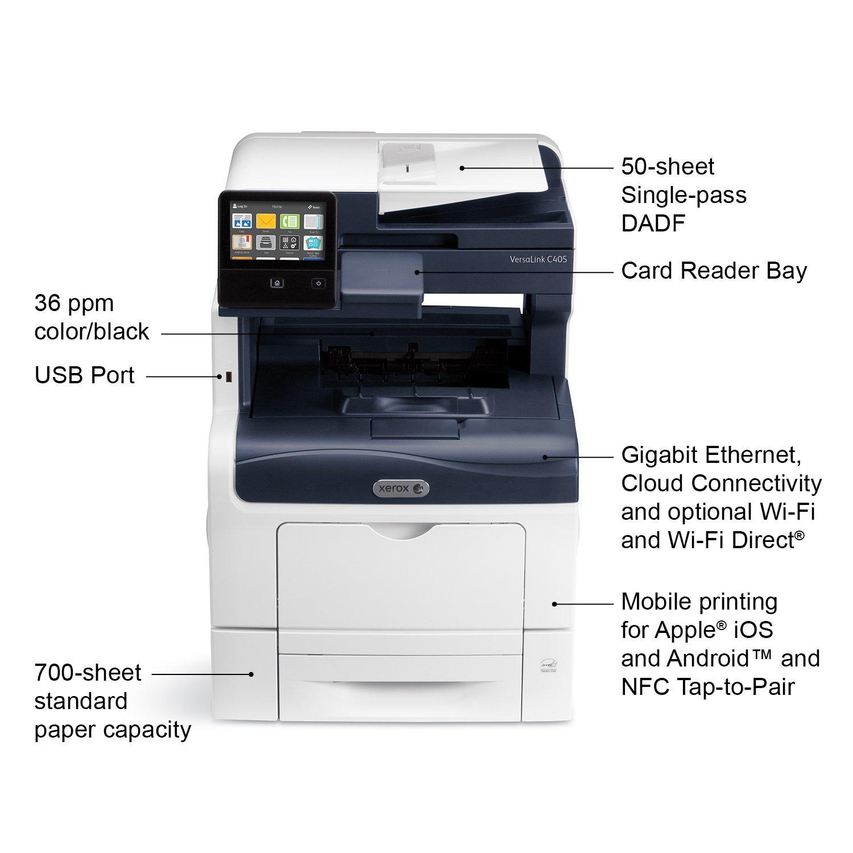 Amazon Xerox VersaLink C405 DN Color Laser MultiFunction Printer Electronics