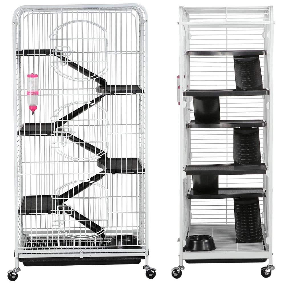 Yaheetech 52 Multi Level Ferret Cage Indoor Habitats Animal Hutch with 3 Front Doors