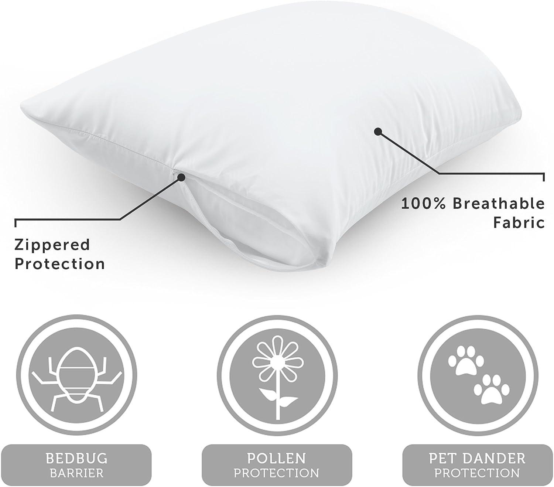 Aller-Ease Pillow Protector Travel 14 x 20 Black
