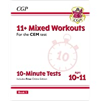 11+ CEM 10-Minute Tests: Mixed Workouts - Ages 10-11 Book 1 (with Online Edition)