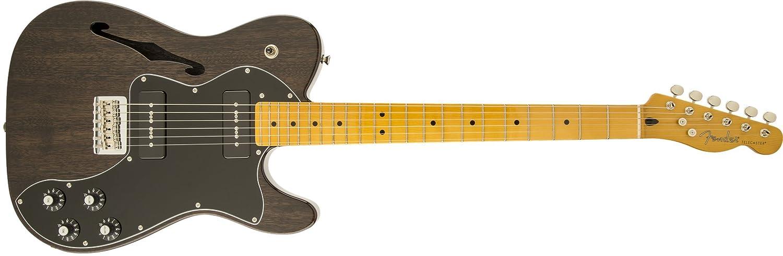 Fender 0241202539 Modern Player Telecaster Thinline Deluxe - Guitarra eléctrica para diapasón, color negro y transparente: Amazon.es: Instrumentos musicales