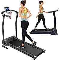 Folding Treadmill Electric Treadmills for Home with LCD Monitor,Pulse Grip and Safe Key Running Walking Jogging Exercise…