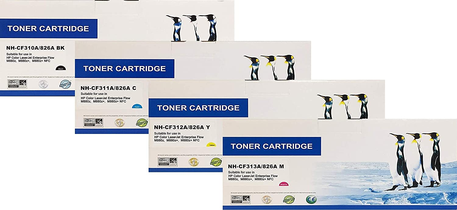 Full Set CF311A CF313A CF312A Lower Cost Alternative to HP Brand Overall Defect Rates Less Than 1/% Search4Toner Compatible Replacement for HP CF310A HP 826A