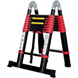 BEETRO 16.5ft Aluminum Telescoping Ladder, A Type Portable Telescopic Extension Ladder for Outdoor Working, Household…