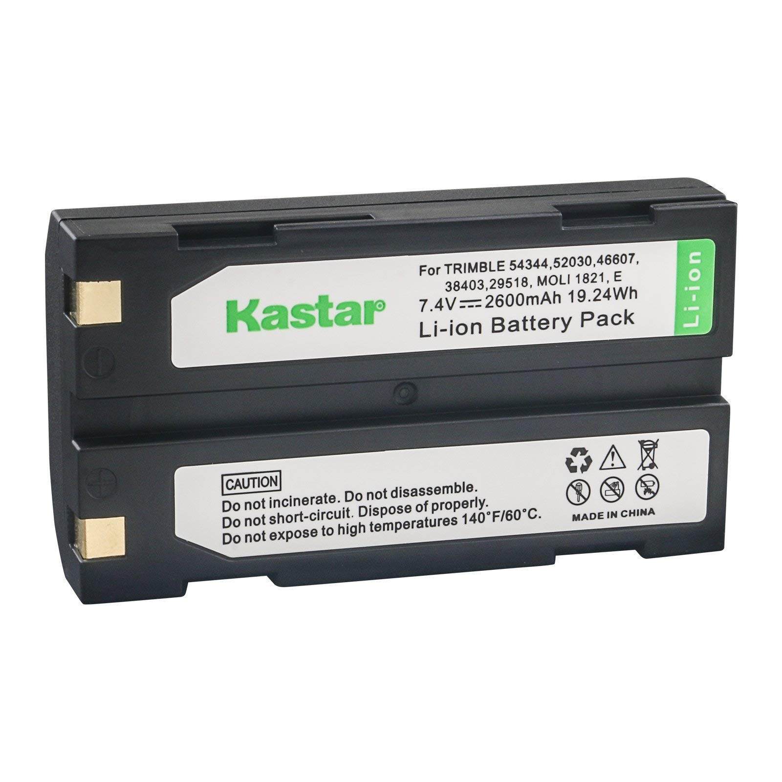 Kastar D-Li1 Battery 2 Pack Replacement for Pentax Ei-D-Li1 EI-D-BC1 EI-2000 Trimble 29518 46607 52030 54344 38403 5700 5800 R6 R7 R8 GNSS TR-R8 GPS MT1000 HP C8873A PhotoSmart 912 C912 912XI C912XI by Kastar (Image #2)