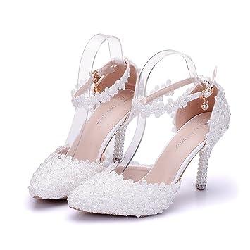 DAMEN BLUME BRAUTSCHUHE Pumps Flache Schuhe Glitter Strass