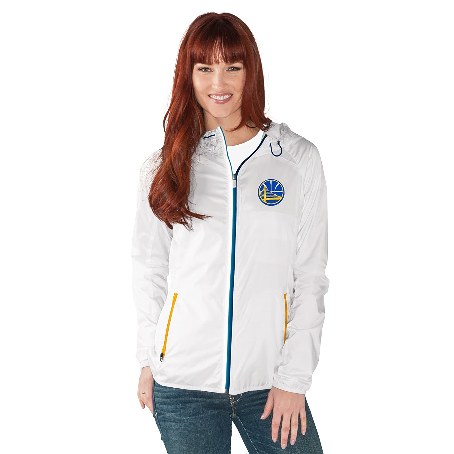 (Golden State Warriors, Large, White) - NBA Women's Spring Training Light Weight Full Zip Jacket   B01ND0USCE