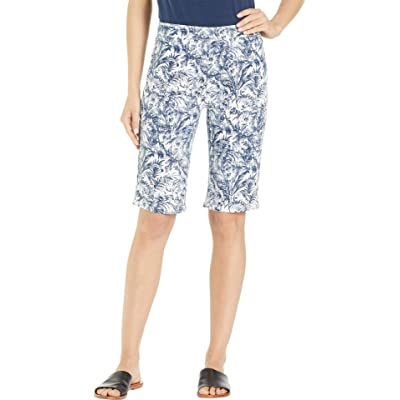 FDJ French Dressing Jeans Women's Botanical Toile Pull-On Bermuda in Navy at Women's Jeans store