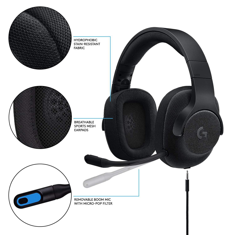 Logitech G433 Binaural Diadema Negro - Auriculares con micrófono (Consola de Videojuegos + PC/Videojuegos, Binaural, Diadema, Negro, Alámbrico, ...
