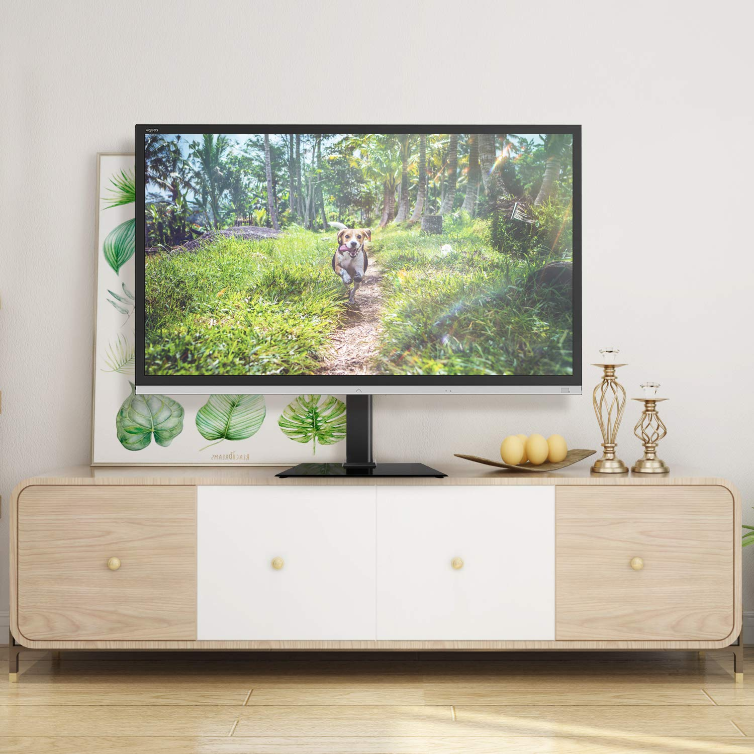Universal Swivel Tabletop TV Stand With Mount For 27 32 37 42 47 55 Inch LED,LCD