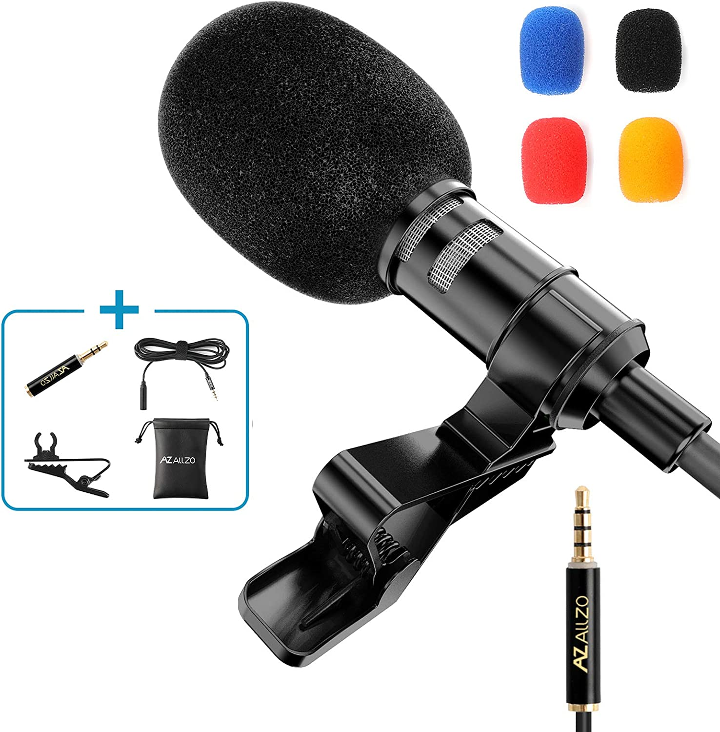 PROFESSIONAL Microphone Clip-on System Lapel Mic Condenser Recording